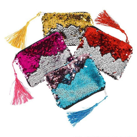 Flip Sequin Coin Purse