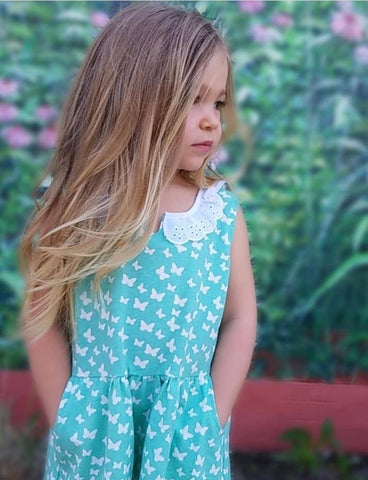 Butterfly Pocket Dress (Cotton Blend)