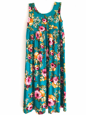 Floral Tank Maxi Dress ~ Handmade in USA