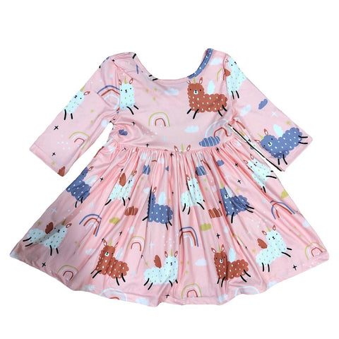 Llamacorn Twirl Dress