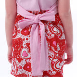 Sleeveless Summer Heart Dress with Bow