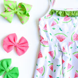 *PRE-ORDER* Watermelon Ruffle Twirl Dress