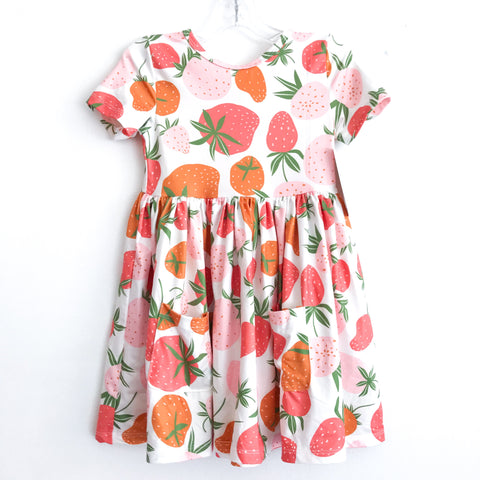 Strawberry Pocket Twirl Dress