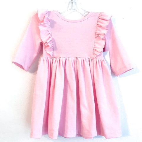 Light Pink Ruffle Dress ~ Cotton