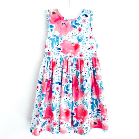 Watercolor Floral Tank Dress