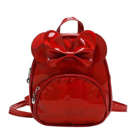 Shiny Red MINI Backpack