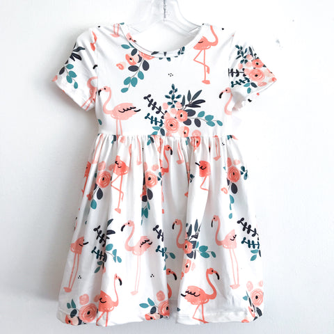 Flamingo Twirl Dress