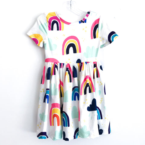 Rainy Day Rainbow Twirl Dress