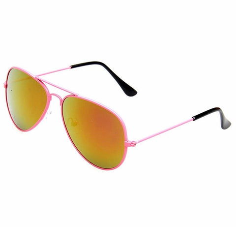Pink Kids Aviator Sunglasses