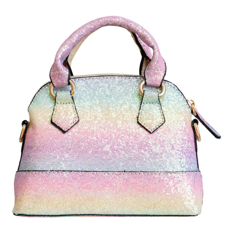 Rainbow Glitter Sparkle Mini Crossbody Purse