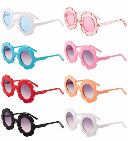 Flower Sunglasses with Pouch
