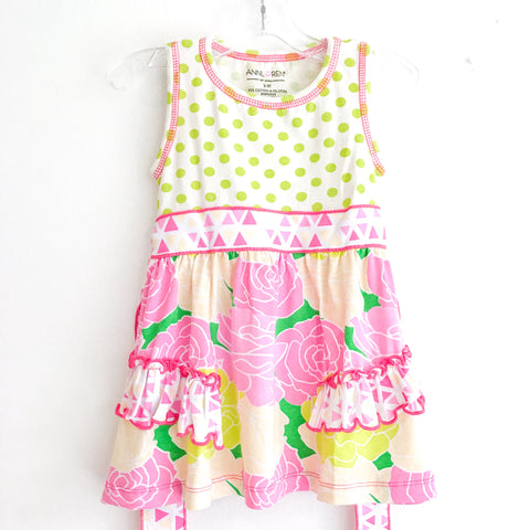 Summer Bouquet Floral Dress Polka Dot Leggings AnnLoren