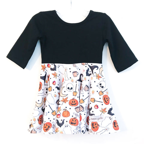 Halloween Treat Twirl Dress ~ Cutee Girls Holiday Fun