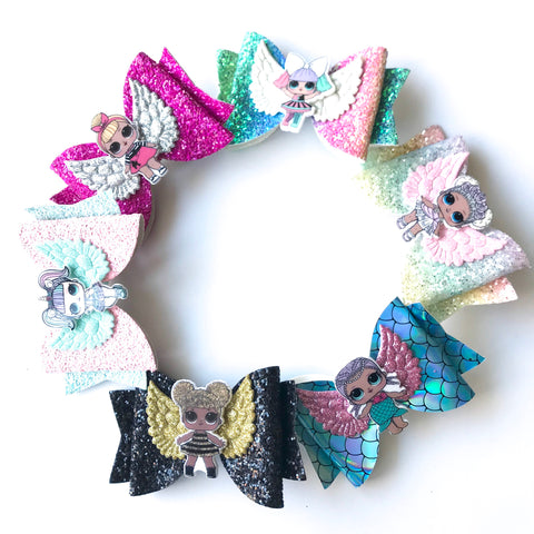 LOL Surprise Glitter Hairbow Clip 4""