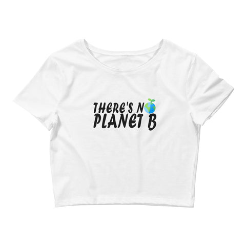 There's No Plant b (version 2) - Vegan Crop Top for vegans out there! UltraVe provides premium vegan clothing that are cruelty-free, ethical and sustainable. 10% of our profits are donated to animal welfare charities. We have vegan hoodies, vegan tshirts, vegan sweatshirts. Go Veganism!!