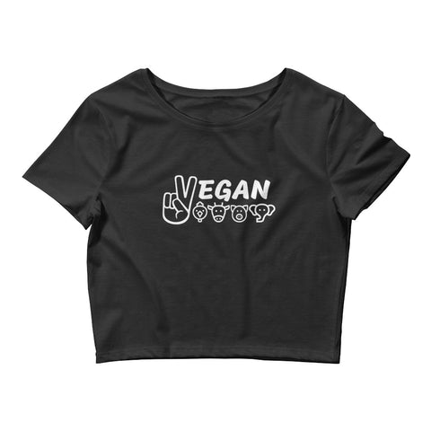 Vegan For The Animals - Vegan Crop Top for vegans out there! UltraVe provides premium vegan clothing that are cruelty-free, ethical and sustainable. 10% of our profits are donated to animal welfare charities. We have vegan hoodies, vegan tshirts, vegan sweatshirts. Go Veganism!!
