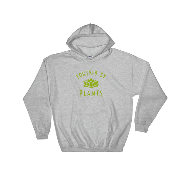 Powered By Plants - Vegan Hoodie for vegans out there! UltraVe provides premium vegan clothing that are cruelty-free, ethical and sustainable. 10% of our profits are donated to animal welfare charities. We have vegan hoodies, vegan tshirts, vegan sweatshirts. Go Veganism!!