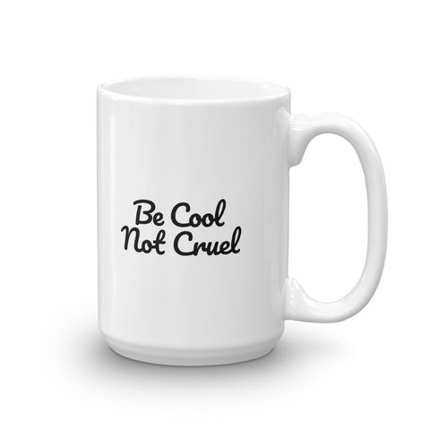 Be Cool Not Cruel Mug for vegans out there! UltraVe provides premium vegan clothing that are cruelty-free, ethical and sustainable. 10% of our profits are donated to animal welfare charities. We have vegan hoodies, vegan tshirts, vegan sweatshirts. Go Veganism!!