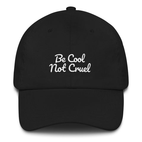 Be Cool Not Cruel - Vegan Hat for vegans out there! UltraVe provides premium vegan clothing that are cruelty-free, ethical and sustainable. 10% of our profits are donated to animal welfare charities. We have vegan hoodies, vegan tshirts, vegan sweatshirts. Go Veganism!!