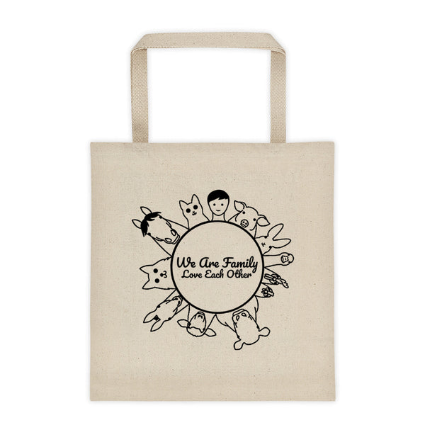 We Are Family Love Each Other - Vegan Tote Bag