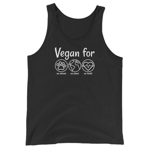 Vegan For... - Vegan Tank Top for vegans out there! UltraVe provides premium vegan clothing that are cruelty-free, ethical and sustainable. 10% of our profits are donated to animal welfare charities. We have vegan hoodies, vegan tshirts, vegan sweatshirts. Go Veganism!!