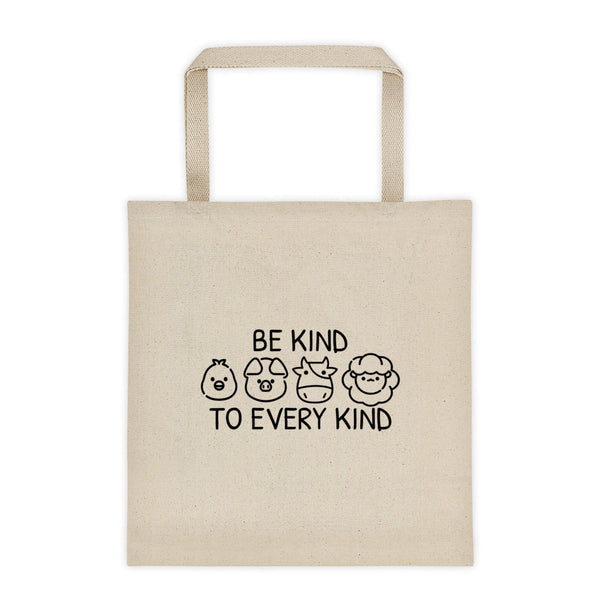 Be Kind To Every Kind - Vegan Tote Bag