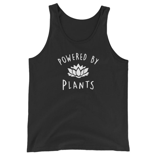 Powered By Plants - Vegan Tank Top for vegans out there! UltraVe provides premium vegan clothing that are cruelty-free, ethical and sustainable. 10% of our profits are donated to animal welfare charities. We have vegan hoodies, vegan tshirts, vegan sweatshirts. Go Veganism!!