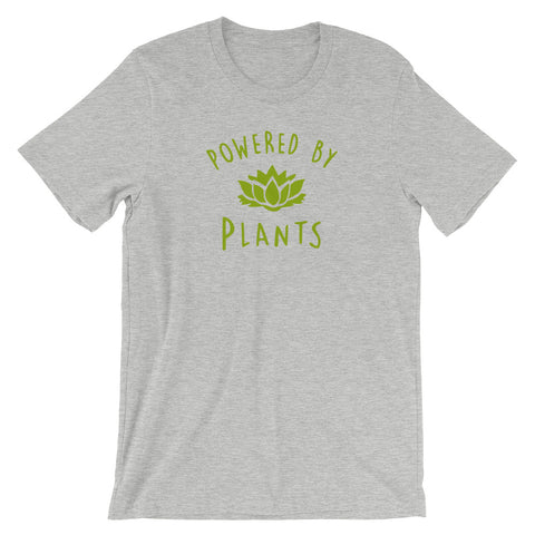 Powered By Plants - Vegan Tee for vegans out there! UltraVe provides premium vegan clothing that are cruelty-free, ethical and sustainable. 10% of our profits are donated to animal welfare charities. We have vegan hoodies, vegan tshirts, vegan sweatshirts. Go Veganism!!