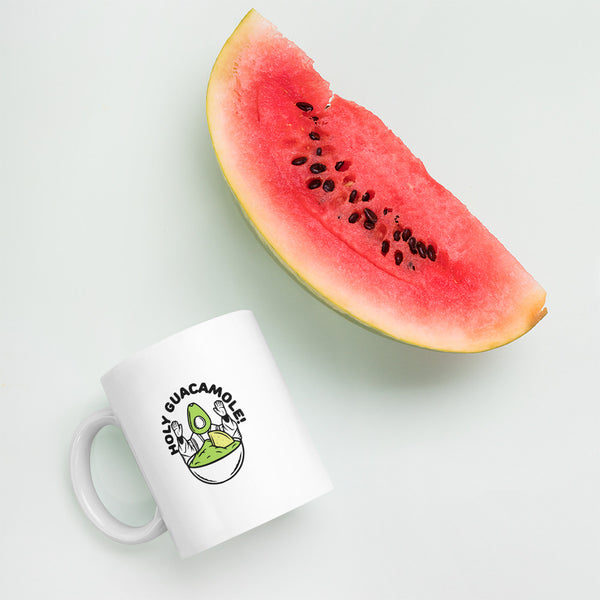 Holy Guacamole Mug for vegans out there! UltraVe provides premium vegan clothing that are cruelty-free, ethical and sustainable. 10% of our profits are donated to animal welfare charities. We have vegan hoodies, vegan tshirts, vegan sweatshirts. Go Veganism!!