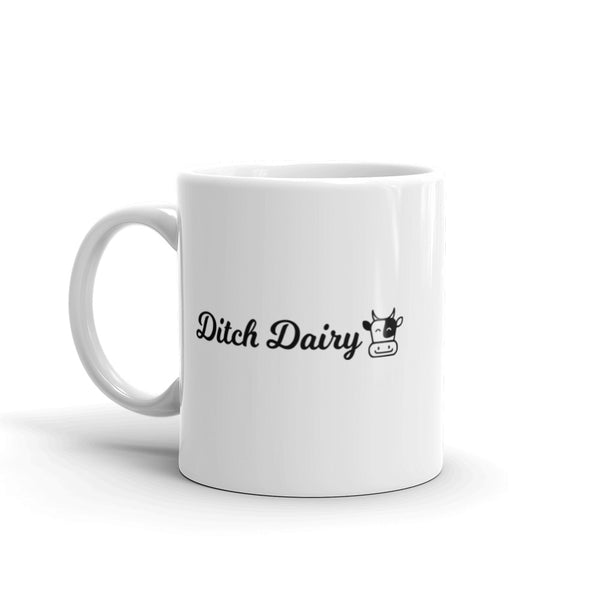 Ditch Dairy Mug for vegans out there! UltraVe provides premium vegan clothing that are cruelty-free, ethical and sustainable. 10% of our profits are donated to animal welfare charities. We have vegan hoodies, vegan tshirts, vegan sweatshirts. Go Veganism!!