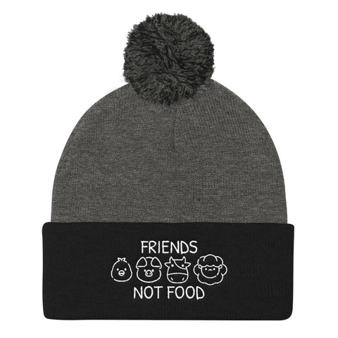 Friends Not Food - Vegan Beanie for vegans out there! UltraVe provides premium vegan clothing that are cruelty-free, ethical and sustainable. 10% of our profits are donated to animal welfare charities. We have vegan hoodies, vegan tshirts, vegan sweatshirts. Go Veganism!!