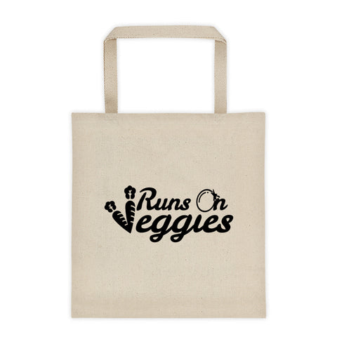 Runs On Veggies - Vegan Tote Bag