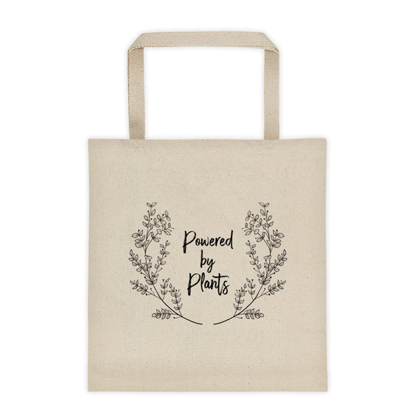 Powered By Plants Vegan Tote Bag