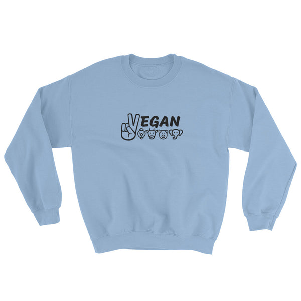 Vegan For The Animals - Vegan Sweatshirt for vegans out there! UltraVe provides premium vegan clothing that are cruelty-free, ethical and sustainable. 10% of our profits are donated to animal welfare charities. We have vegan hoodies, vegan tshirts, vegan sweatshirts. Go Veganism!!