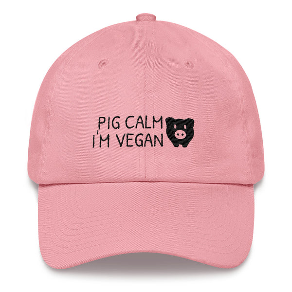 Pig Calm I'm Vegan - Vegan Hat for vegans out there! UltraVe provides premium vegan clothing that are cruelty-free, ethical and sustainable. 10% of our profits are donated to animal welfare charities. We have vegan hoodies, vegan tshirts, vegan sweatshirts. Go Veganism!!