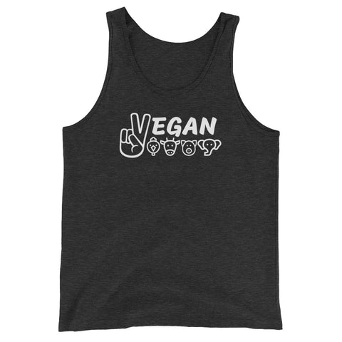 Vegan For The Animals - Vegan Tank Top for vegans out there! UltraVe provides premium vegan clothing that are cruelty-free, ethical and sustainable. 10% of our profits are donated to animal welfare charities. We have vegan hoodies, vegan tshirts, vegan sweatshirts. Go Veganism!!
