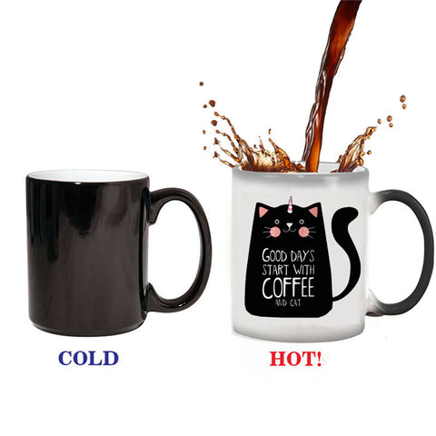 Good Days Start With Coffee And Cat Color Changing Mug for vegans out there! UltraVe provides premium vegan clothing that are cruelty-free, ethical and sustainable. 10% of our profits are donated to animal welfare charities. We have vegan hoodies, vegan tshirts, vegan sweatshirts. Go Veganism!!