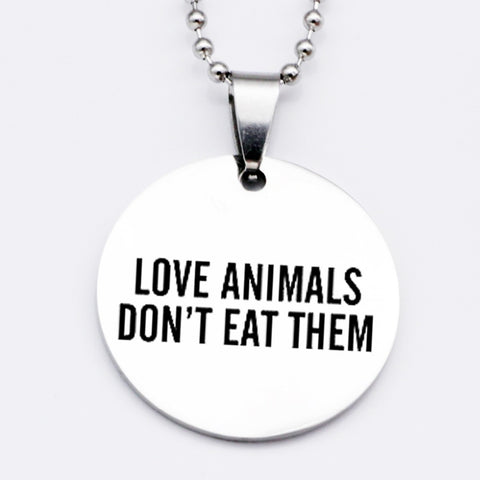 Love Animals Don't Eat Them for vegans out there! UltraVe provides premium vegan clothing that are cruelty-free, ethical and sustainable. 10% of our profits are donated to animal welfare charities. We have vegan hoodies, vegan tshirts, vegan sweatshirts. Go Veganism!!