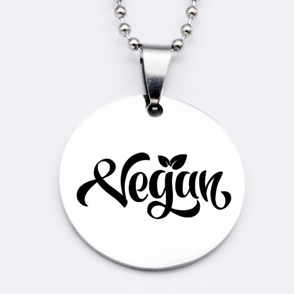 Vegan Necklace for vegans out there! UltraVe provides premium vegan clothing that are cruelty-free, ethical and sustainable. 10% of our profits are donated to animal welfare charities. We have vegan hoodies, vegan tshirts, vegan sweatshirts. Go Veganism!!