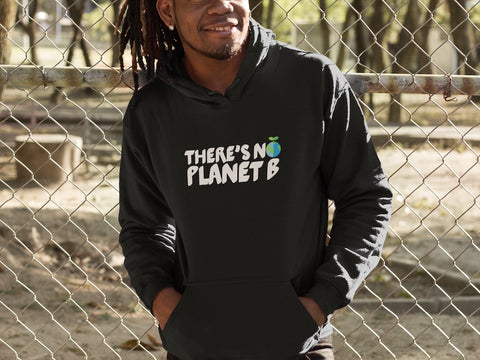 There's No Planet B - Vegan Hoodie for vegans out there! UltraVe provides premium vegan clothing that are cruelty-free, ethical and sustainable. 10% of our profits are donated to animal welfare charities. We have vegan hoodies, vegan tshirts, vegan sweatshirts. Go Veganism!!