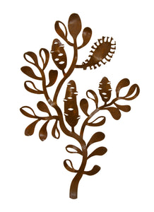 Banksia Branch Metal Wall Art