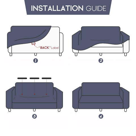 Universal Stretch Non Slip Sofa Chaise Covers Buy More