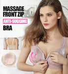 Massage Front Zip Wire-Free Supportive Sleep Bra