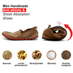 Men Handmade Anti-athlete & shock absorption shoes