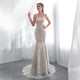 Strapless Mermaid Wedding Dresses Lace Applique Bridal Dresses