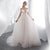 Deep V Neck Off Shoulder Backless Wedding Dresses Lace Bridal Gown