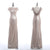 Scoop Neck Slim Line Sequin Bridesmaid Dresses Affordable Prom Dresses