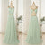 Tiffany Blue Halter Open Back Long Prom Dresses Chiffon Evening Dresses With Ribbon