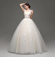 Sleeveless Open Back Lace Applique Wedding Dresses A Line Bridal Gown