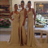 Sweetheart Sleeveless Side Slit Long Bridesmaid Dresses Lace Prom Dresses